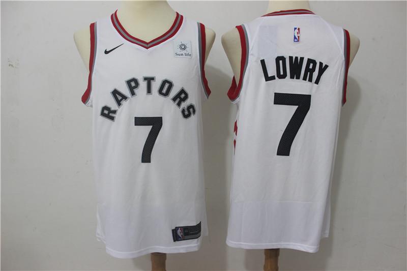 Raptors 7 Kyle Lowry White Nike Swingman Jersey