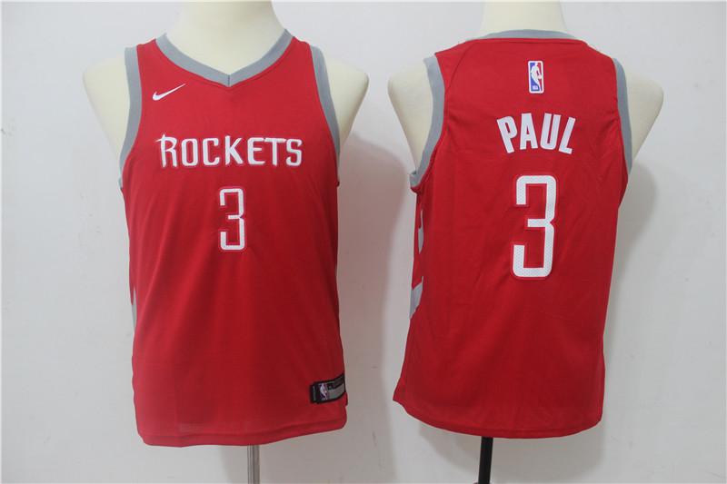 Rockets 3 Chris Paul Red Youth Nike Swingman Jersey