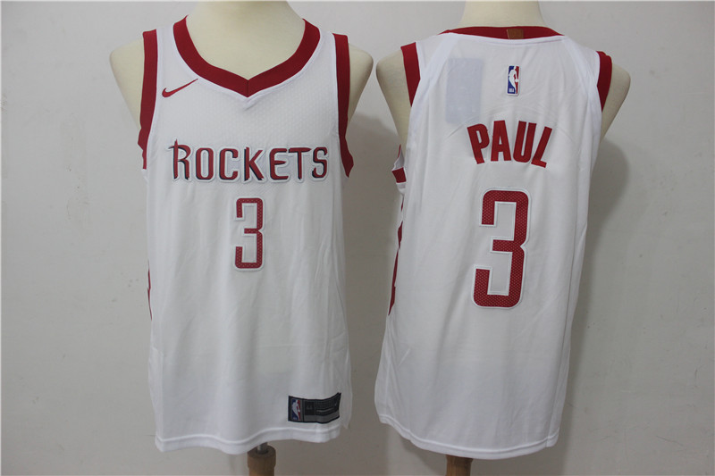 Rockets 3 Chris Paul White Nike Authentic Jersey
