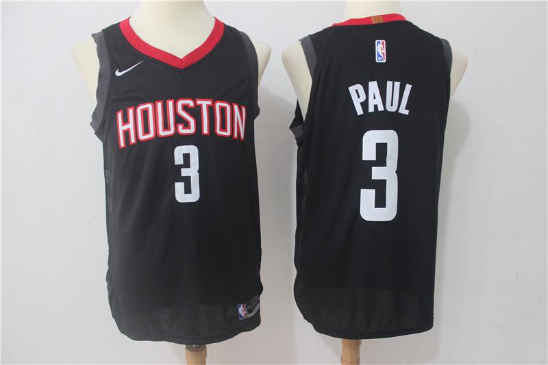 Rockets 3 Chris Paul Black Nike Authentic Jersey