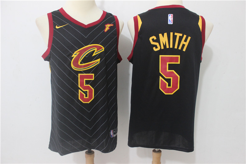 Cavaliers 5 J.R. Smith Black Nike Swingman Jersey