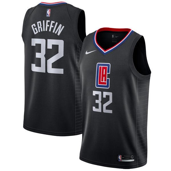Clippers 32 Blake Griffin Black Nike Swingman Jersey
