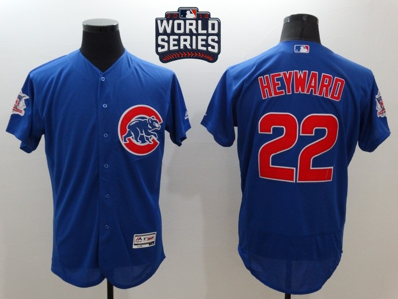 Cubs 22 Jason Heyward Royal 2016 World Series Flexbase Jersey
