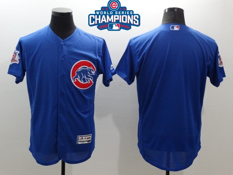 Cubs Blank Royal 2016 World Series Champions Flexbase Jersey