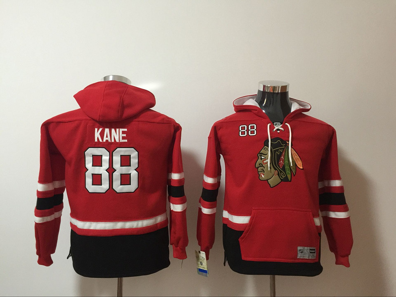 Chicago Blackhawks 88 Patrick Kane Red Youth All Stitched Hooded Sweatshirt