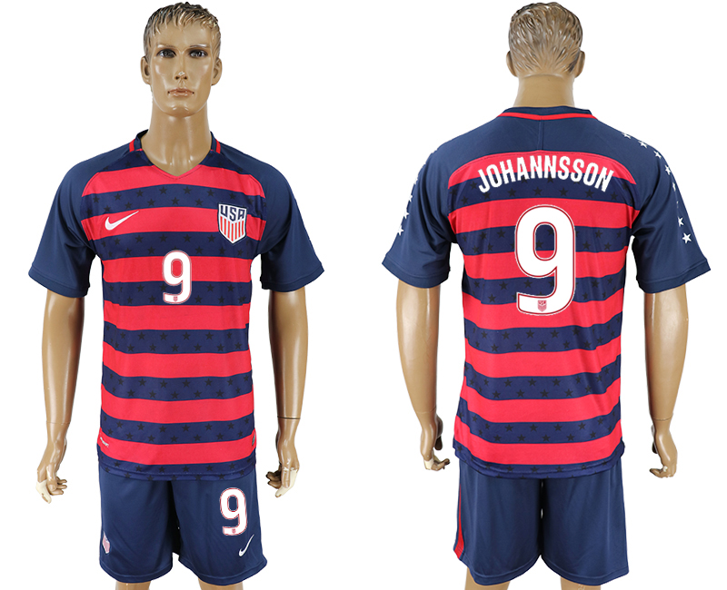 USA 9 JOHANNSSON 2017 CONCACAF Gold Cup Away Soccer Jersey