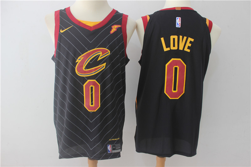 Cavaliers 0 Kevin Love Black Nike Authentic Jersey