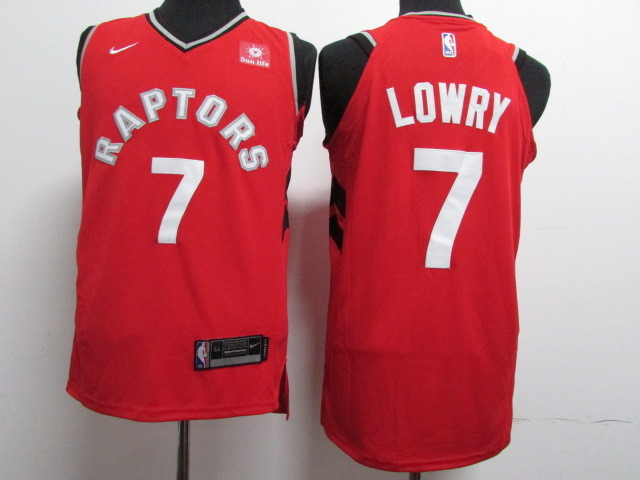Raptors 7 Kyle Lowry Red Nike Authentic Jersey