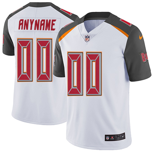 Nike Buccaneers White Men's Customized Vapor Untouchable Player Limited Jersey