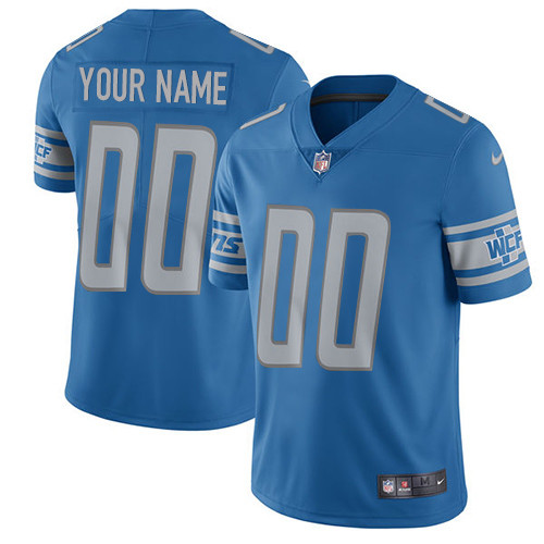 Nike Lions Blue Men's Customized Vapor Untouchable Player Limited Jersey
