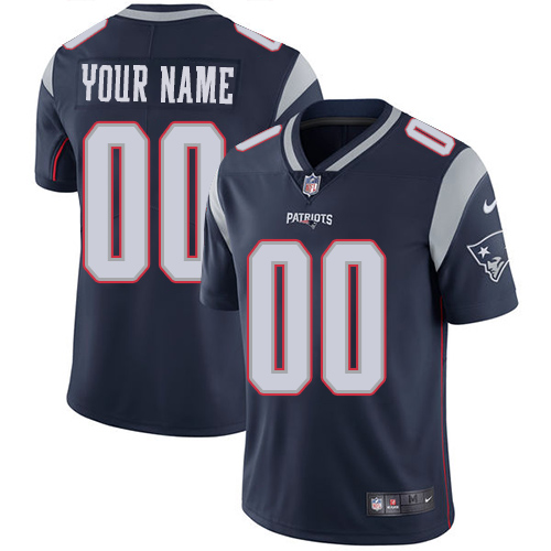 Nike Patriots Navy Men's Customized Vapor Untouchable Player Limited Jersey