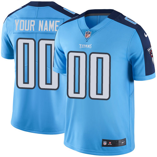 Nike Titans Light Blue Men's Customized Vapor Untouchable Player Limited Jersey