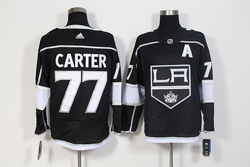 Kings 77 Jeff Carter Black Adidas Jersey
