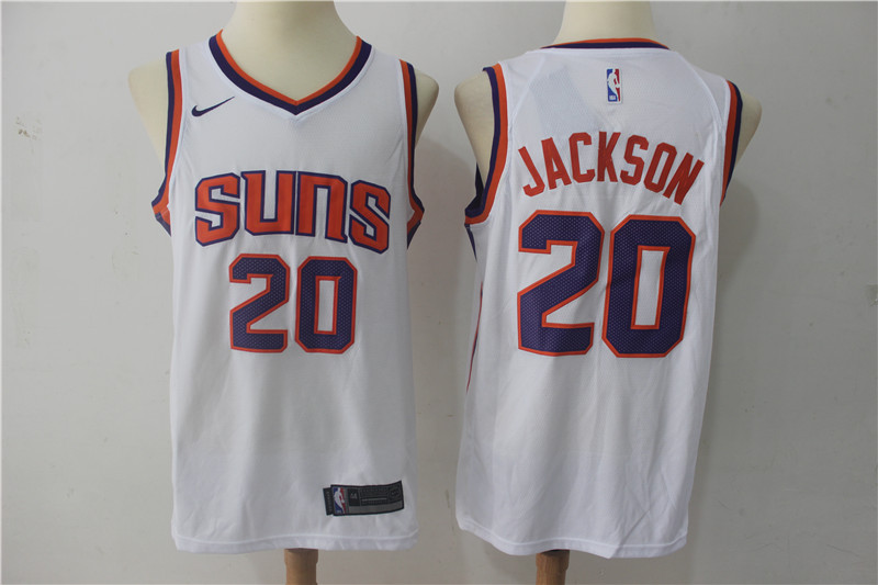 Suns 20 Josh Jackson White Nike Swingman Jersey(Without The Sponsor Logo)