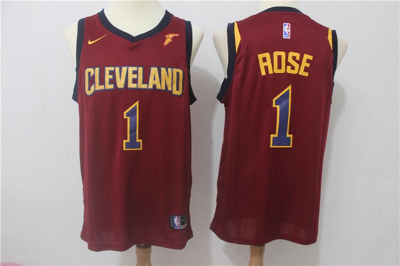 Cavaliers 1 Derrick Rose Red Nike Swingman Jersey