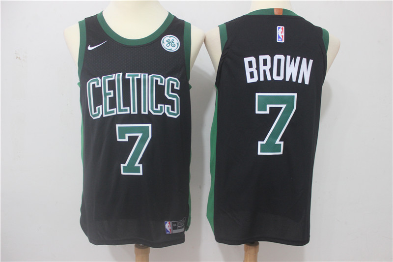 Celtics 7 Jaylen Brown Black Nike Authentic Jersey