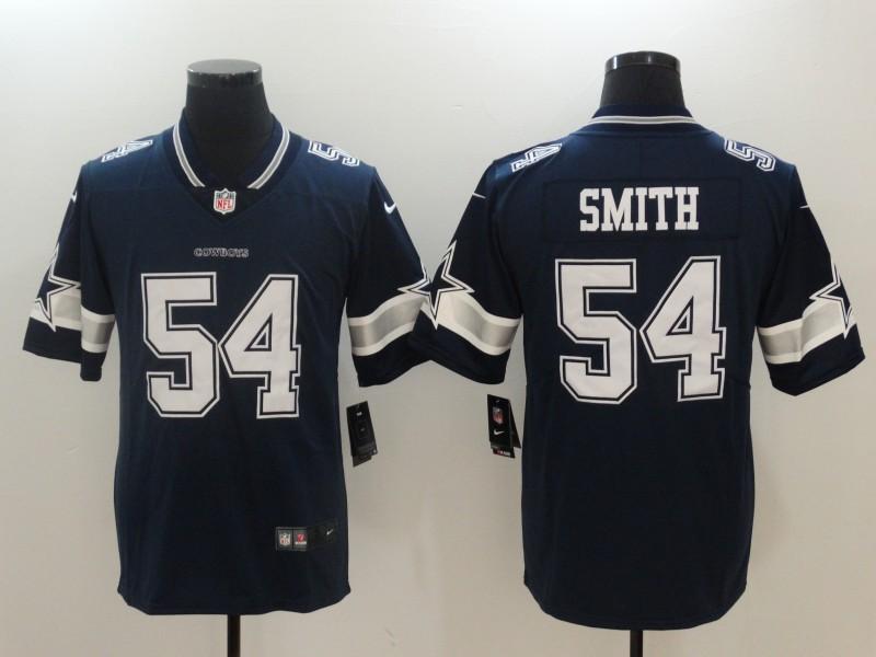 Nike Cowboys 54 Jaylon Smith Navy Vapor Untouchable Player Limited Jersey