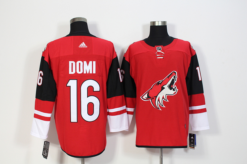 Coyotes 16 Max Domi Red Adidas Jersey