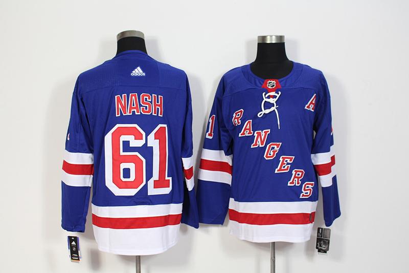 Rangers 61 Rick Nash Blue Adidas Jersey