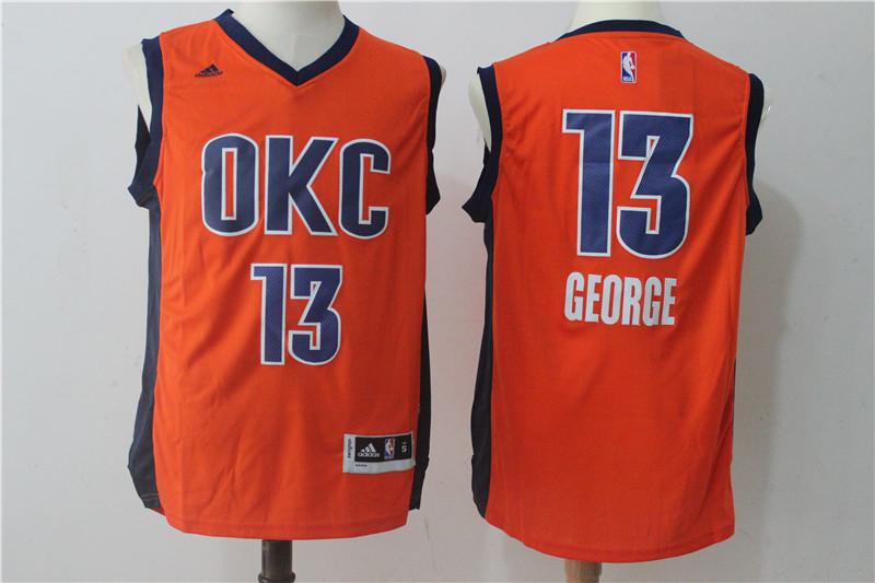 Thunder 13 Paul George Orange Swingman Jersey
