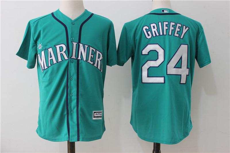 Mariners 24 Ken Griffey Jr. Northwest Green Alternate Cool Base Jersey