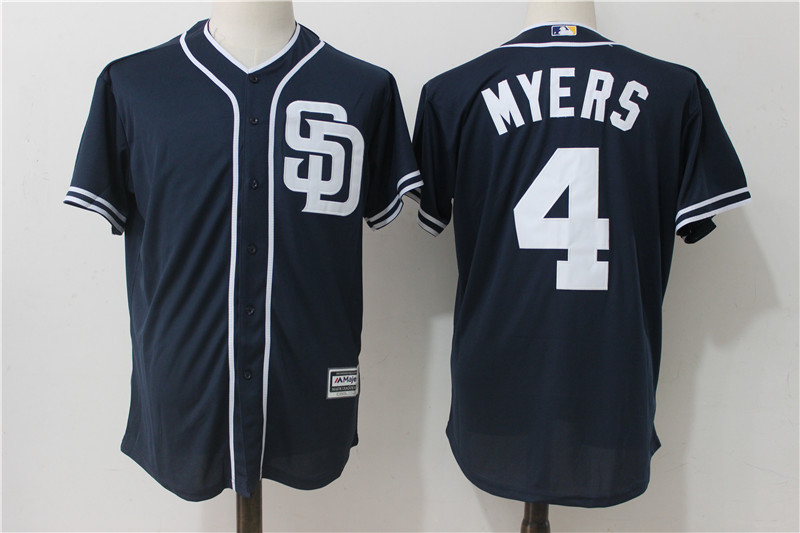 Padres 4 Wil Myers Navy Cool Base Jersey