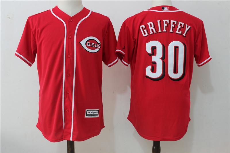 Reds 30 Ken Griffey Jr Red Cool Base Jersey