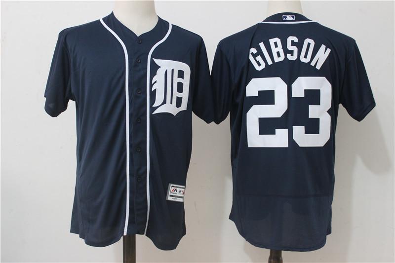 Tigers 23 Kirk Gibson Navy Flexbase Jersey