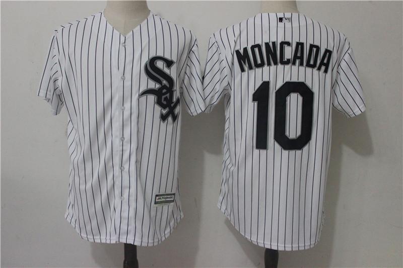 White Sox 10 Yoan Moncada White Cool Base Jersey