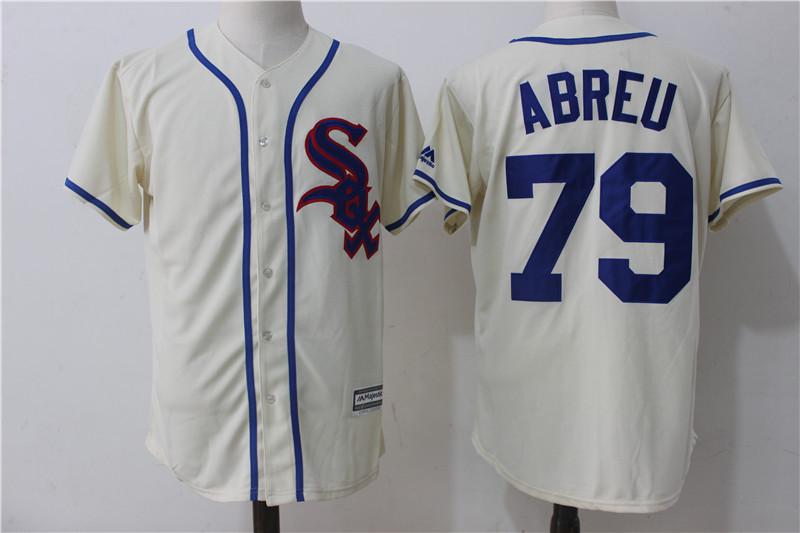 White Sox 79 Jose Abreu Cream Cool Base Jersey
