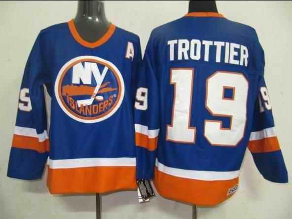 Islanders 19 Bryan Trottier Blue CCM Jersey