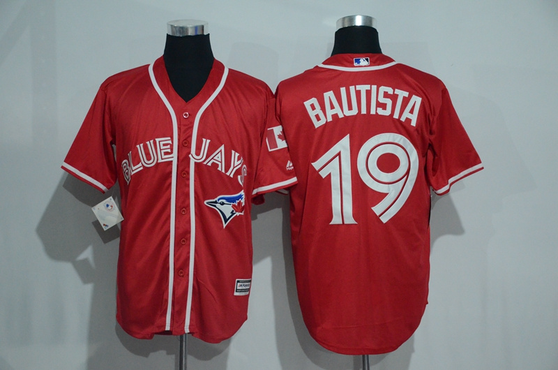Blue Jays 19 Jose Bautista Red Alternate Cool Base Jersey