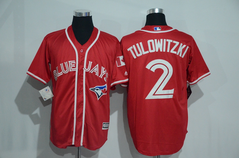 Blue Jays 2 Troy Tulowitzki Red Alternate Cool Base Jersey