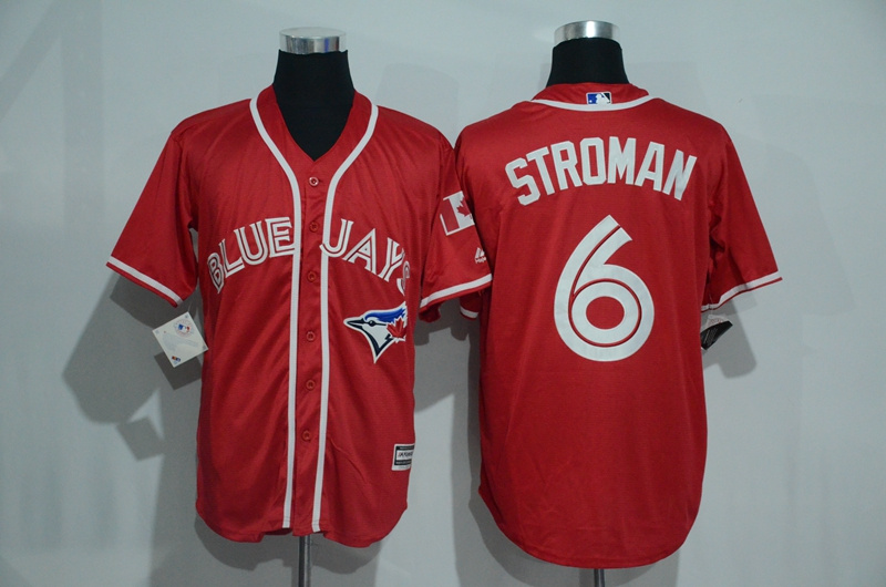 Blue Jays 6 Marcus Stroman Red Alternate Cool Base Jersey