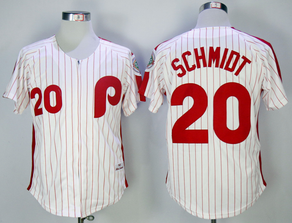 Phillies 20 Mike Schmidt White 1983 Mitchell & Ness Jersey