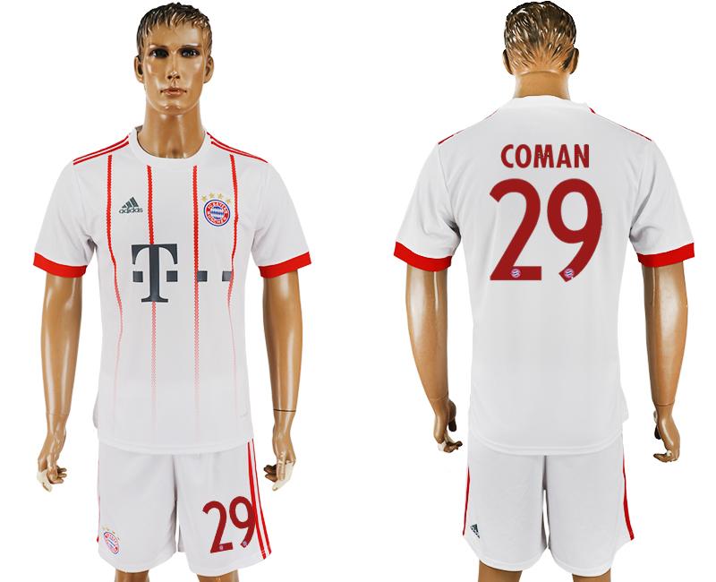 2017-18 Bayern Munich 29 COMAN UEFA Champions League Away Soccer Jersey