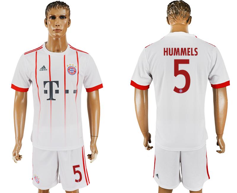 2017-18 Bayern Munich 5 HUMMELS UEFA Champions League Away Soccer Jersey