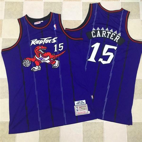 Raptors 15 Vince Carter Purple 1998-99 Hardwood Classics Jersey