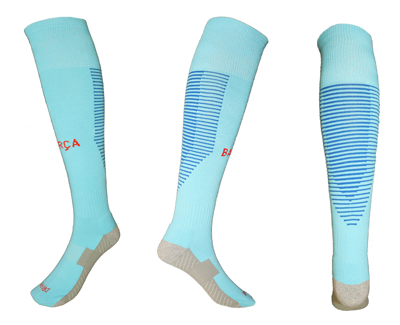 2017-18 Barcelona Away Youth Soccer Socks