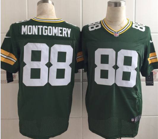 Nike Packers 88 Ty Montgomery Green Elite Jersey