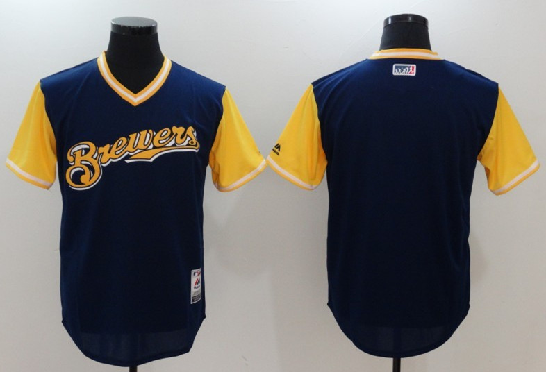 Brewers Majestic Navy 2017 Players Weekend Team Jersey