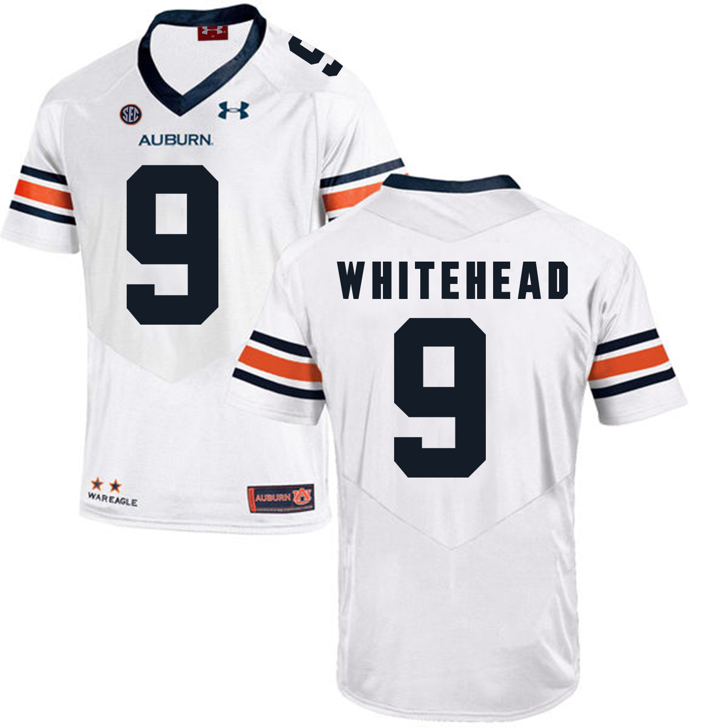 Auburn Tigers 9 Jermaine Whitehead White College Football Jersey