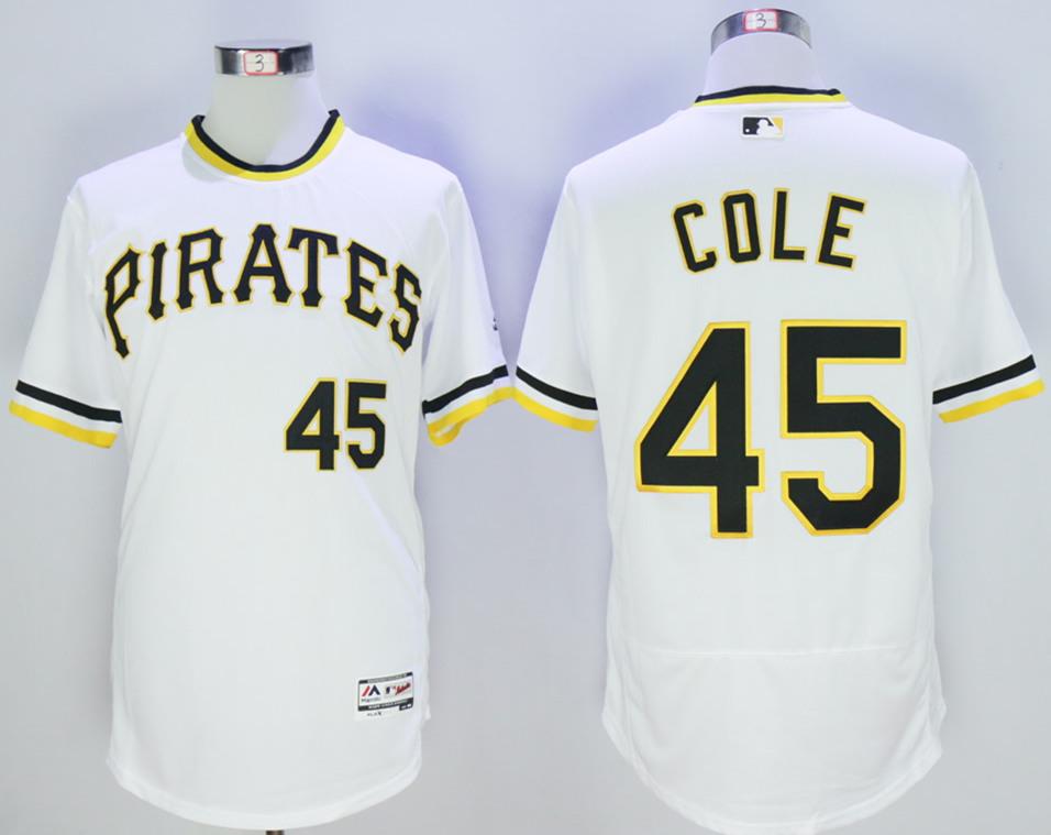 Pirates 45 Gerrit Cole White Flexbase Jersey