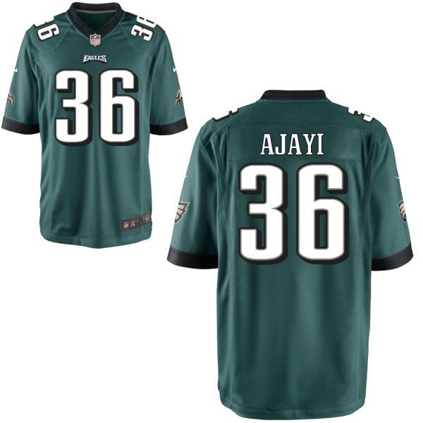 Nike Eagles 36 Jay Ajayi Green Youth Game Jersey