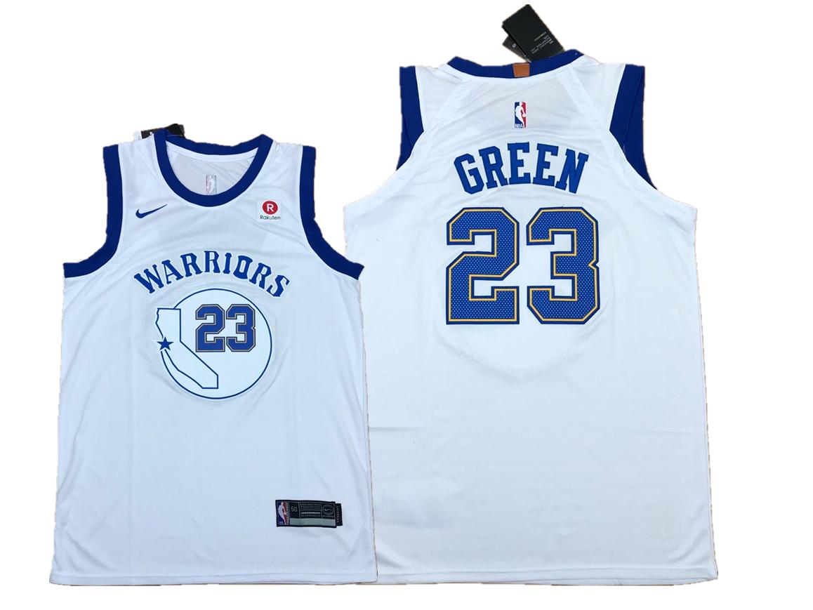 Warriors 23 Draymond Green White Fashion Current Player Hardwood Classics Nike Authentic Jersey