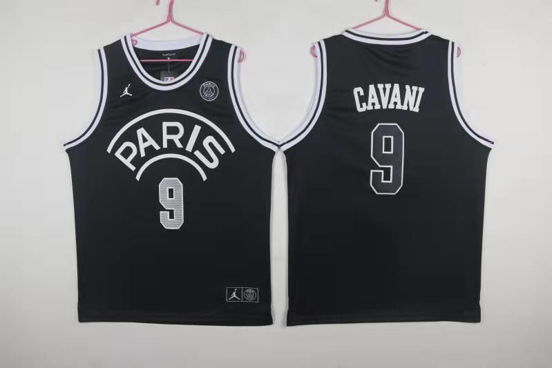 Paris Saint-Germain 9 Cavani Black Jordan Fashion Jersey