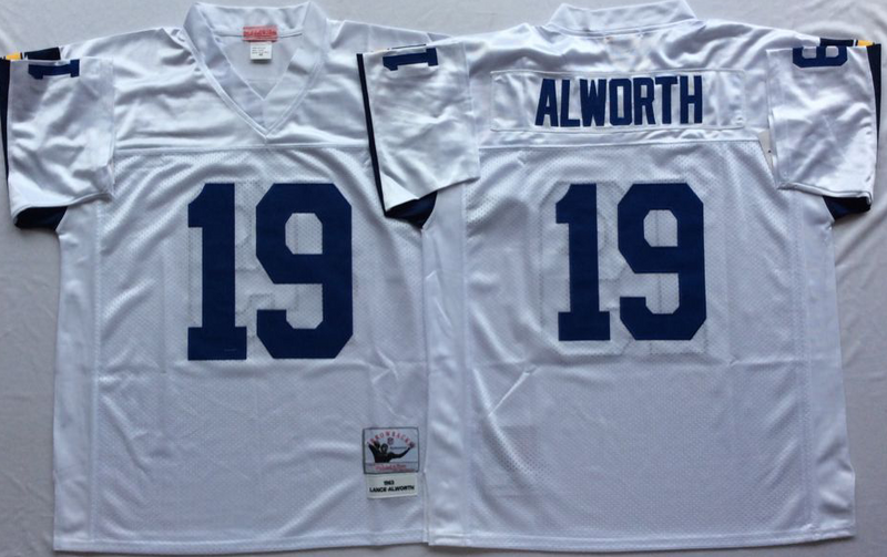 Chargers 19 Lance Alworth White M&N Throwback Jersey