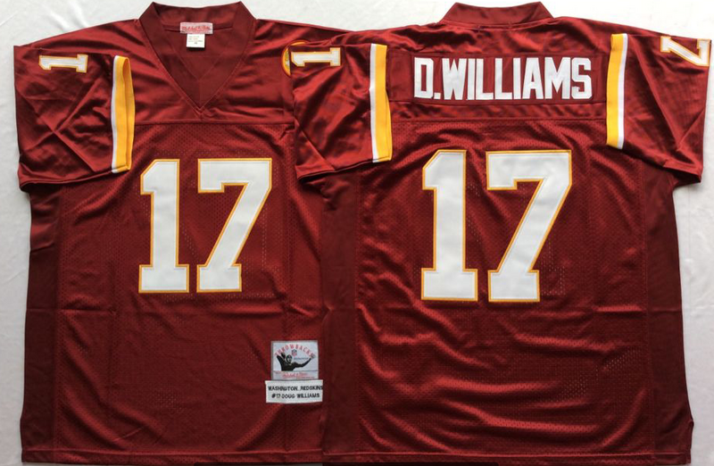 Redskins 17 Doug Williams Red M&N Throwback Jersey