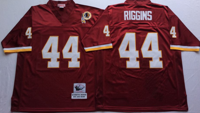 Redskins 44 John Riggins Red M&N Throwback Jersey