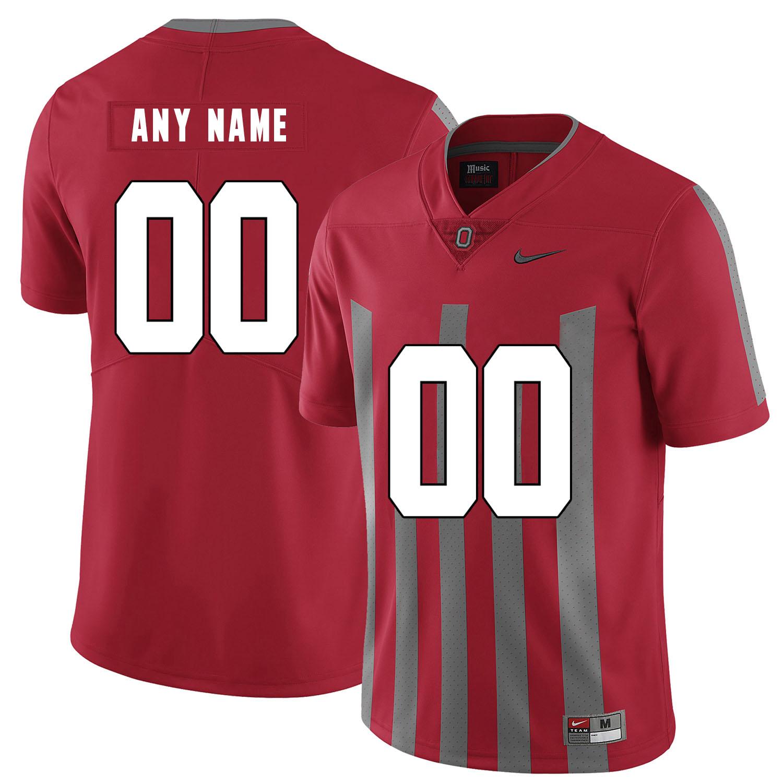 Ohio State Buckeyes Red Elite Men's Customized Nike College Football Jersey